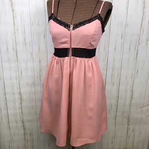 Doe & Rae Blush Pink Lace Slip Dress NWOT